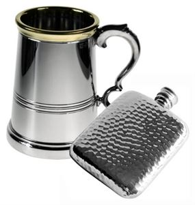 Engraved Tankards and Flasks