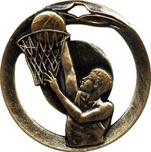 Embossed Basketball Medals