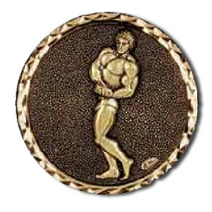 Embossed Body Building Medals