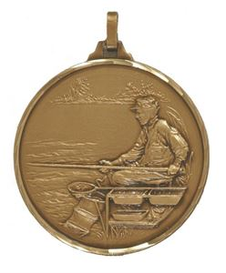 Embossed Fishing Medals