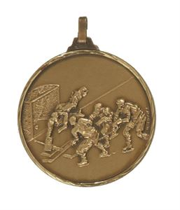 Embossed Ice Hockey Medals