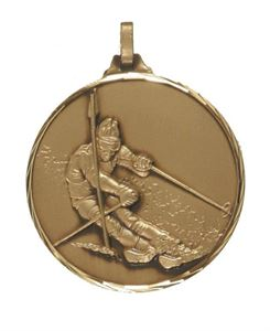 Embossed Skiing Medals
