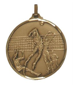 Embossed Volleyball Medals