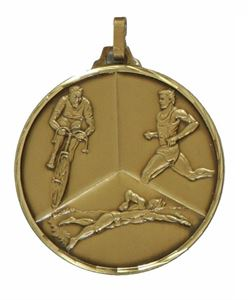 Embossed Triathlon Medals