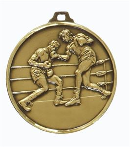 Embossed Boxing Medals