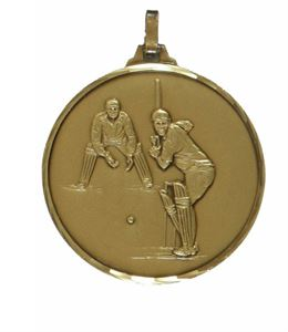 Embossed Cricket Medals