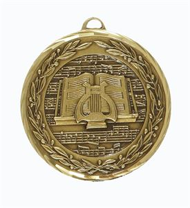 Embossed Music Medals