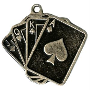 Embossed Poker Medals