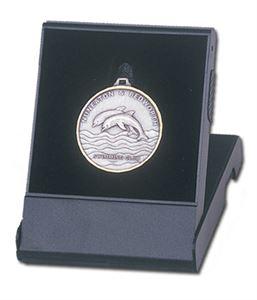 Flip Over Black Plastic Medal Box