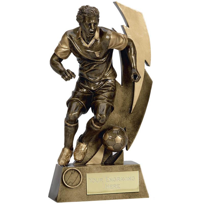 Gold Flash Footballer Trophy - A1421