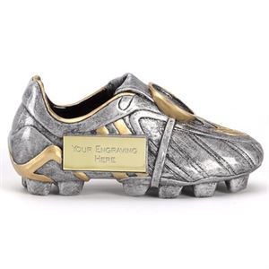 Premier 3D Silver Football Boot Trophy