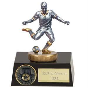 Meridian Flexx Footballer Trophy Silver - Small