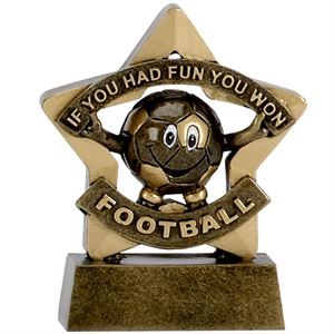 Mini Star Football Participation Trophy - A1129