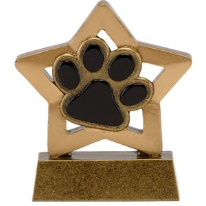 Mini Star Paw Print Trophy - A1665