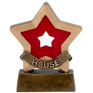 Mini Star House Trophy - Red