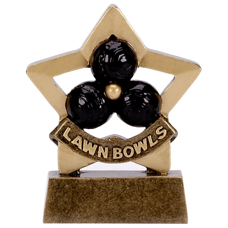 Mini Star Lawn Bowls Trophy - A1117