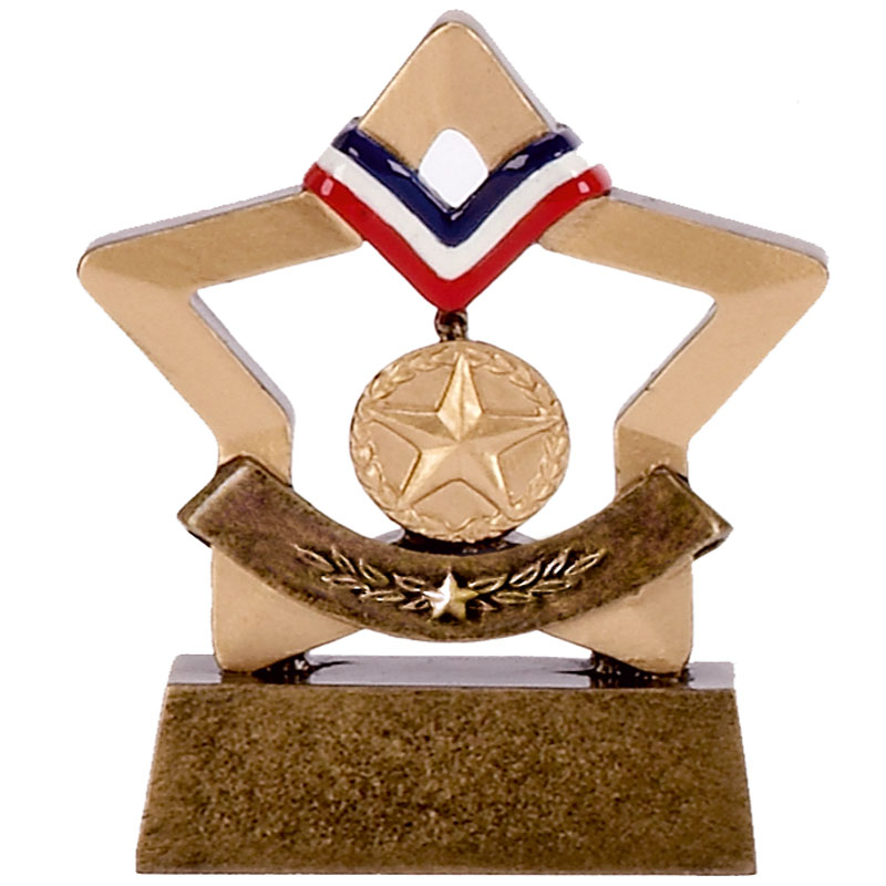 Mini Star Gold Medal Trophy - A1635