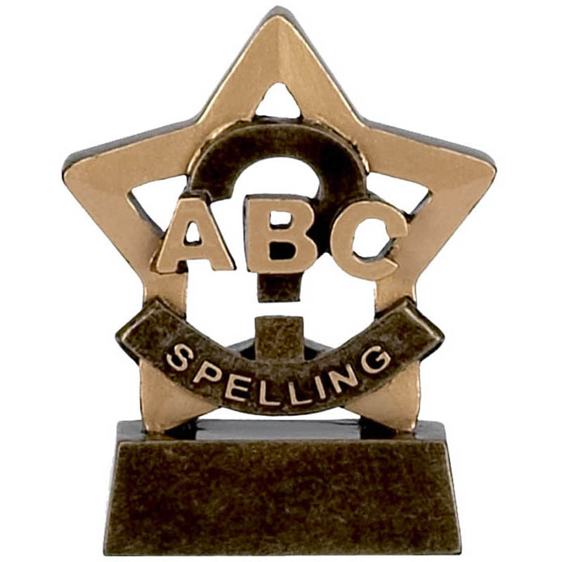 Mini Star Spelling Trophy - A947