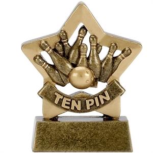 Mini Star Ten Pin Bowling Trophy - A1115