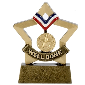 Mini Star Well Done Trophy