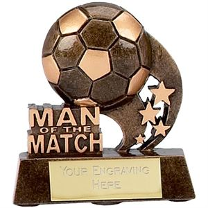 Micro Man of the Match Swoosh Trophy