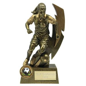 Gold Flash Female Footballer Trophy - A1855