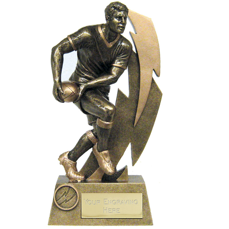 Gold Flash Rugby Player Trophy - A1520