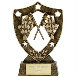 Shield Star Chequered Flags Award