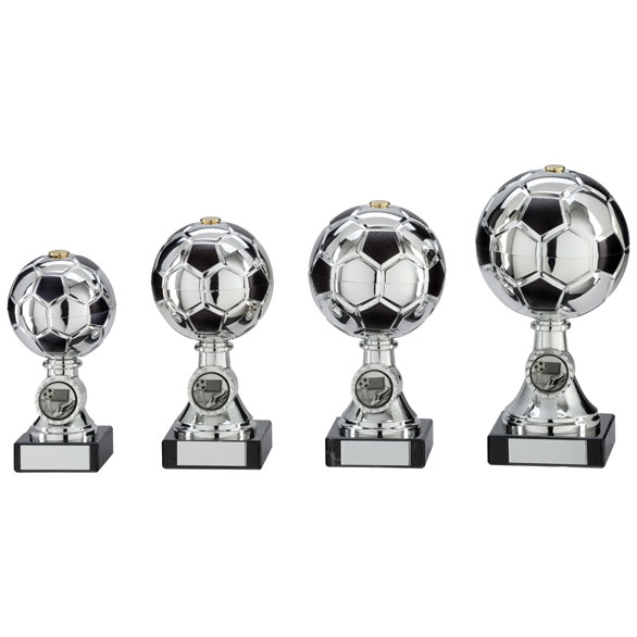 Milano Football Trophy - Silver - Available in 4 sizes
