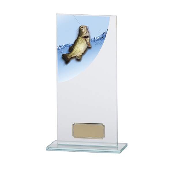 Colour Curve Angling Glass Trophy - CR4644