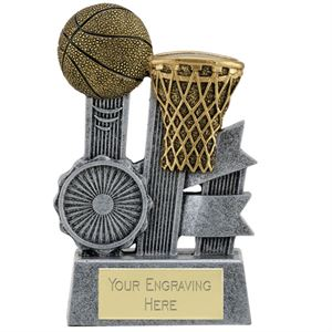 Ribbon Basketball Trophy - A1810A