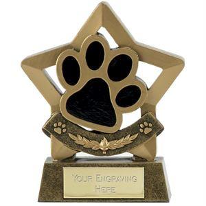 Mini Star Paw Print Trophy - A1665B