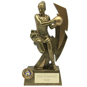 Gold Flash Netball Player Trophy - A1856