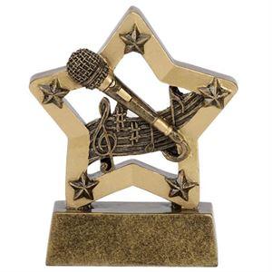 Mini Star Microphone Trophy - A1241