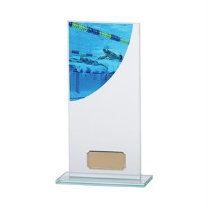 Colour Curve Swimming Glass Trophy