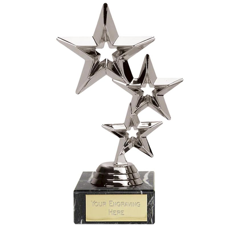 Triple Star Trophy Silver - FT95A