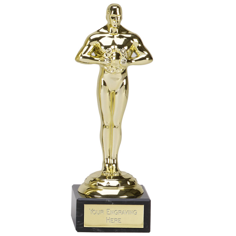 Glass Award Trophy On White