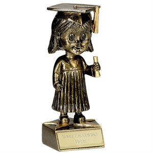 Bobble Head Female Graduation Award