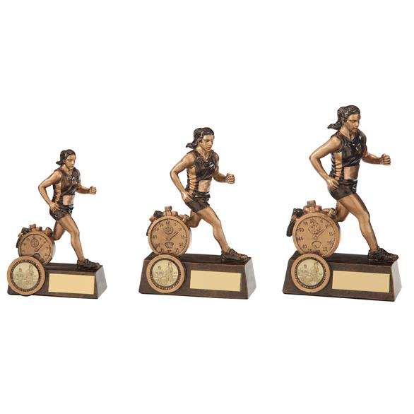 Endurance Female Runner Trophy - 3 sizes