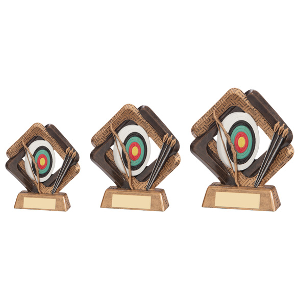 Resin Sporting Unity Archery Trophies Awards 3 sizes FREE Engraving