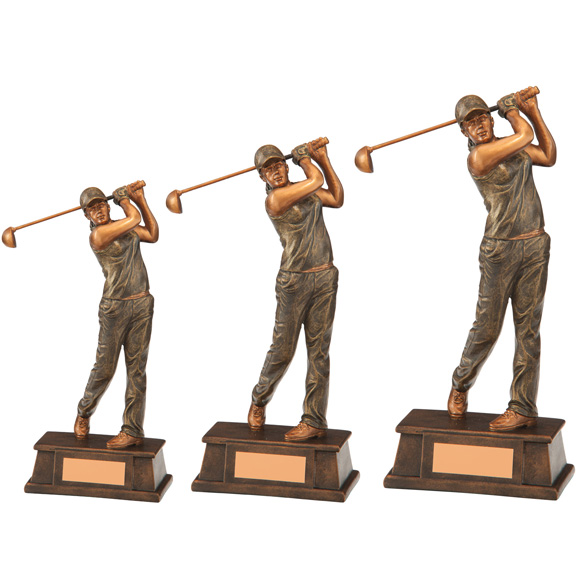 The Classical Female Golf Trophy 3 sizes - RF17066