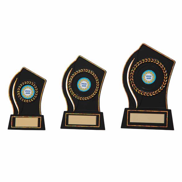 Quest Black Plaque Award AC16237 - 3 sizes