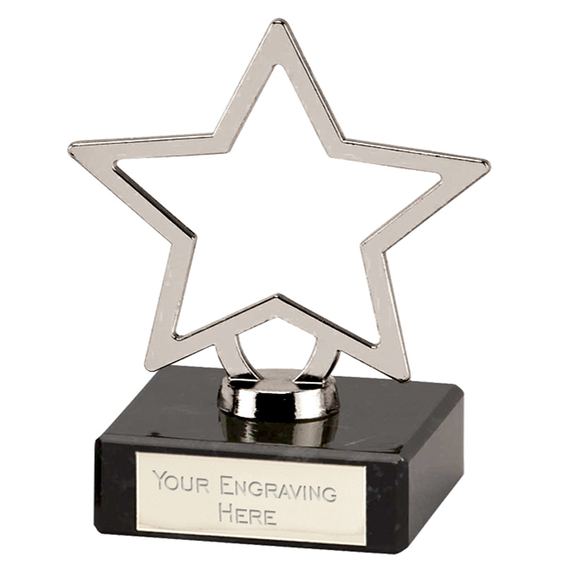 Galaxy Silver Cast Metal Star Award - 189A