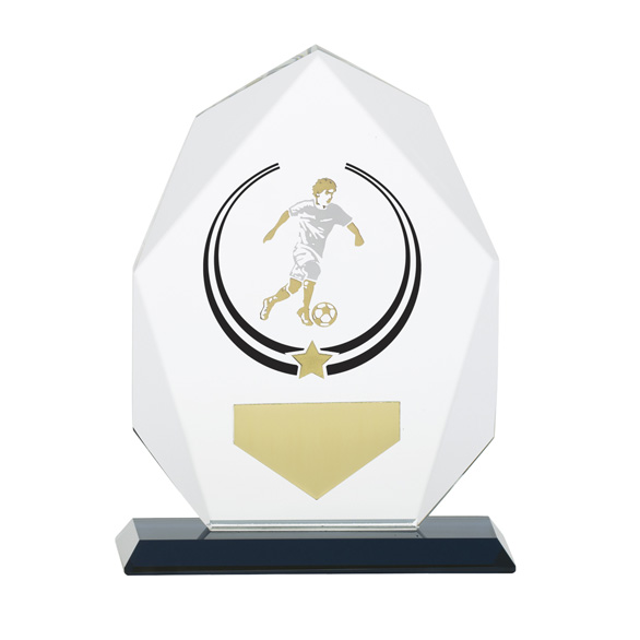 Glacier Football Glass Award - CR17079