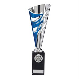 Razor Silver and Blue Cup Trophy - TR17582