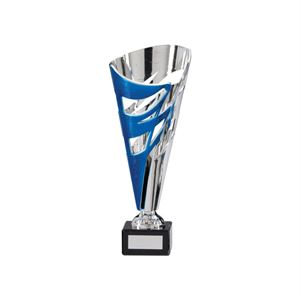 Razor Silver and Blue Cup Trophy Small - TR17582