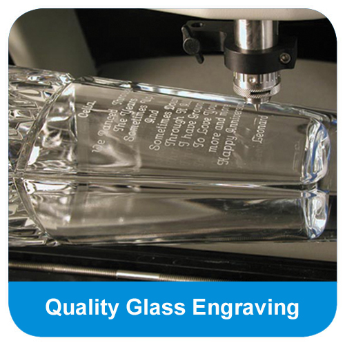 High quality glass engraving