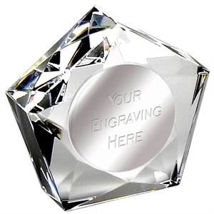 Diamond Star Crystal Paperweight - OK016