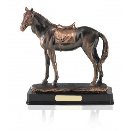 Antique Copper Plated Horse Figure - GX010
