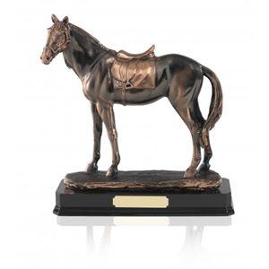 Antique Copper Plated Horse Figure